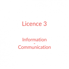 Licence 3 – Information-Communication