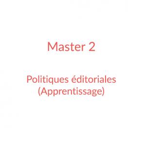 Master 2 – Politiques éditoriales (apprentissage)