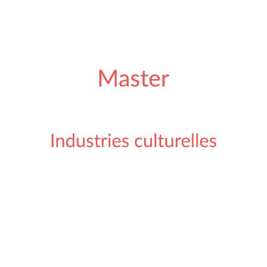 Master Industrie Culturelle