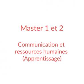 Master 1 et 2 – Communication et ressources humaines (apprentissage)